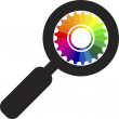 Zoom color wheel logo — Stock Vector