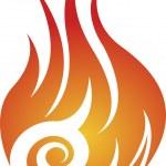 Twist flame logo — Stock Vector #46346307