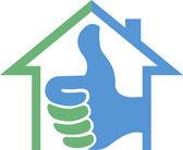 Success home logo — Stock Vector