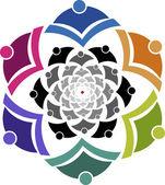 Swirl peoples logo — Stock Vector