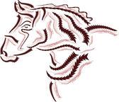 Horse logo — Stock vektor