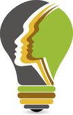 Lamp face logo — Stock Vector