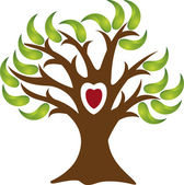 Love tree logo — Vettoriale Stock