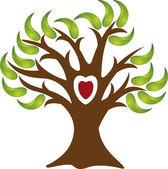 Love tree logo — Stock Vector
