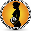 Постер, плакат: Creation pregnant film roll