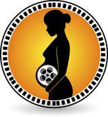 Creation pregnant film roll — Stock Vector