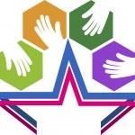 Star hands logo — Stock Vector #51021243