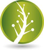 Leaf round logo — Stock Vector