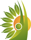 Leaf man logo — Stock Vector
