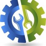 Wheel spanner logo — Stock Vector #51445897