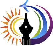 Power pen air logo — Stock Vector
