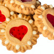 Cookies with heart jam - Photo