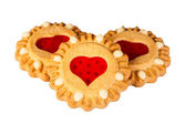 Cookies with heart jam — Foto de Stock