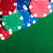 Poker chips on the table. — Stock Photo