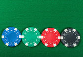 Poker chips on the table. — 图库照片