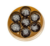 Chocolates with coconut — Photo
