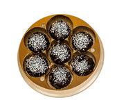 Chocolates with coconut — Stock Photo
