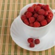 Stock Photo: Ripe wild raspberries