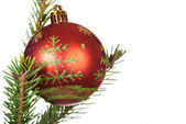 Christmas and New Year ball — Stock Photo