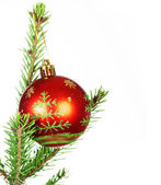 Weihnachten und Silvester-ball — Stockfoto