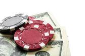 Фишки, деньги — Стоковое фото