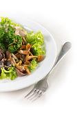 Deska s houby salát greeny — Stock fotografie