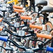 Bicycles in the town of Copenhagen, Denmark - Foto Stock