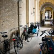 Bicycles in the town of Copenhagen, Denmark — Stock Photo