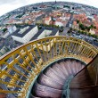 Steep spiral stairs above the city — Stock Photo #15348041
