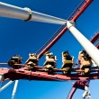 Detail of a rollercoaster — Stock Photo