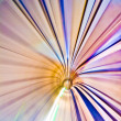 abstract colorful metro tunnel blur — Stock Photo