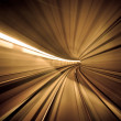 Stock Photo: Abstract colorful metro tunnel blur