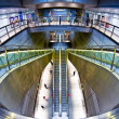 Futuristic metro station - Stock Photo