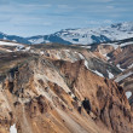 Rainbow mountains of Iceland — Stock Photo