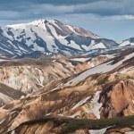 Rainbow mountains of Iceland — Stock Photo #15348467
