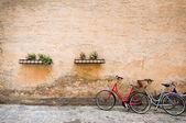 Bicycles in the town of Copenhagen, Denmark — Stock Photo
