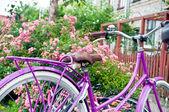 Bike in town — Stock Photo