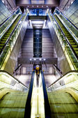 Metro station escalators — Stock Photo