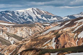 Rainbow mountains of Iceland — Stock Photo