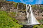 Berömda seljalandsfoss vattenfall på island — Stockfoto