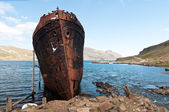Rusty shipwreck — Stock Photo