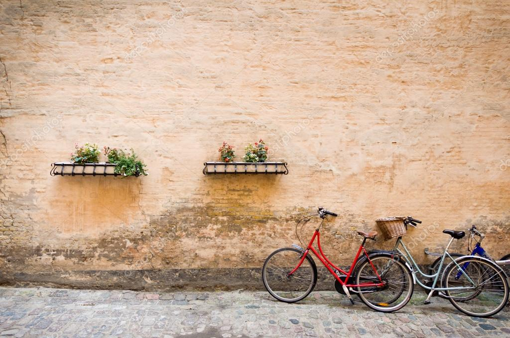 Picturesque scene with bicycles, Copenhagen, Denmark  Stock Photo #15348015