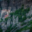 Stock Photo: Monasteries of Meteora valley in sunrise