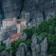monasteries of meteora valley in sunrise — Stock Photo #28722481