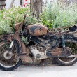 Stock Photo: Old rusty motorcycle
