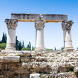 Ruins of ancient temple in Corinth, Greece - archaeological site — Stock Photo #28728413