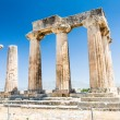 Постер, плакат: Ruins of ancient temple in Corinth Greece archaeological site