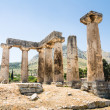 Ruins of ancient temple in Corinth, Greece - archaeological site — Stock Photo #28728781