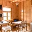 Wooden log cottage cozy interior — Stock Photo #49862881