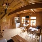 Wooden log cottage cozy interior — Stock Photo #49862905